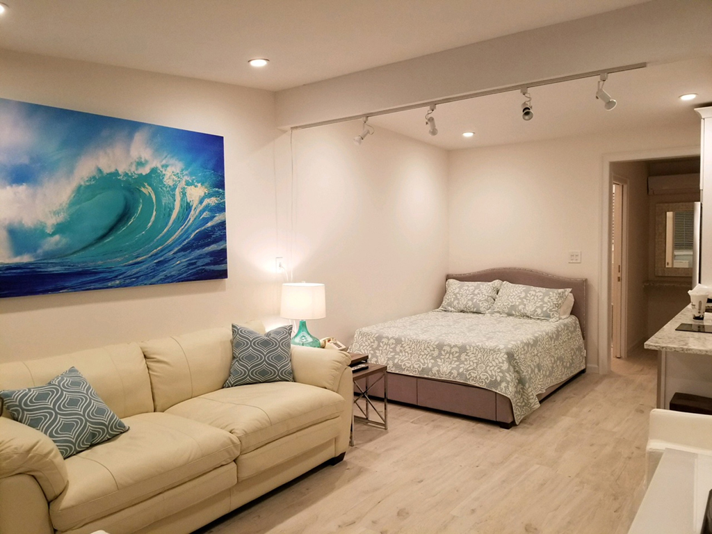 Queen bed and sofa bed