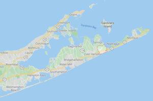 Map of Amagansett, NY