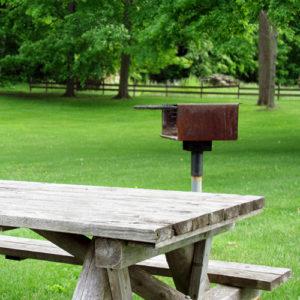 Barbecue and picnic area.